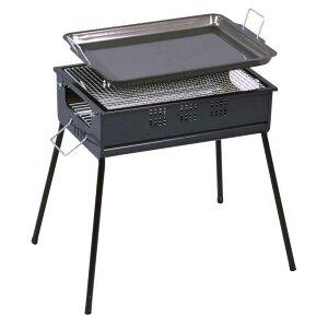 グリーンライフ BBQコンロ バーベキューコンロ 45cm 鉄板付き CBN-450 (4-5…