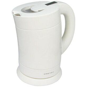 DRI tech electric kettle bamboo PO-111 white