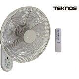 TEKNOS テクノス DCモーター壁掛けフルリモコン扇風機 35cm7枚羽根 KI-DC366