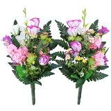 造花 仏花 桔梗とミニカラーの花束一対 CT触媒 造花 シルクフラワー お彼岸 お盆 お仏壇 仏花 お墓 花 お供え