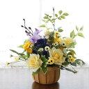 造花 感謝を込めて黄色いバラとミニデージーのアレンジ 敬老の日 CT触媒 シルクフラワー 造花