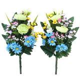 造花 仏花 仏様の四季の花束一対 造花 シルクフラワー お彼岸 お盆 お仏壇 仏花 お墓 花 お供え