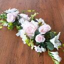 造花 バラやユリのウェディングスワッグ リリー シルクフラワー ウエディング ブライダル CT触媒