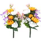 造花 仏花 小ぶりな菊とリリーの仏様の花束一対 CT触媒 造花 シルクフラワー お彼岸 お盆 お仏壇 仏花 お墓 花 お供え