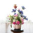造花 ポンポンマムとデイジーの和風ミニアレンジ 敬老の日 CT触媒 シルクフラワー 造花