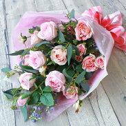 お世話になった人に贈るピンクのバラの花束