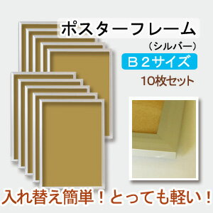 国産【ポスターアルミフレーム】シルバー:B2(10枚セット)