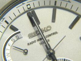 SEIKOセイコーBRIGHTZブライツソーラー電波メンズウォッチ腕時計チタンシルバーSAGA1298B54-0AR0美品【中古】