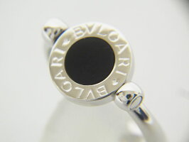 BVLGARIブルガリフリップリング指輪オニキス750K18WGホワイトゴールド9号新品仕上げ【中古】
