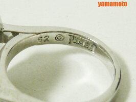 PIAGETピアジェリング指輪オニキスダイヤ750WG保証書52G34LC152美品【中古】