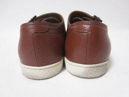 JOHNLOBBジョンロブメンズシューズ靴ダブルモンクレザーブラウンラバーソール71/2【中古】