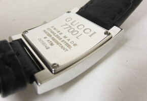 GUCCIグッチレディースウォッチ腕時計シェリーラインクロコダイルレザークォーツ7700L超美品【中古】
