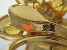 VanCleef&ArpelsVCAヴァンクリーフ&アーペルリング指輪ハワイハワイアンシトリンブルーサファイヤ53美品【中古】
