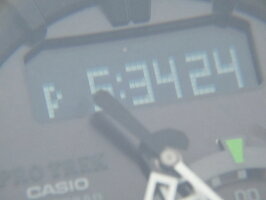 CASIOカシオPROTREKプロトレック電波ソーラーメンズウォッチ腕時計タフソーラーカーキPRW-7000-3JF美品【中古】