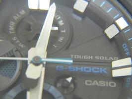 CASIOカシオG-STEELGスチールBluetooth搭載タフネスクロノグラフメンズウォッチ腕時計タフソーラーGST-B100XA-1AJF美品【中古】