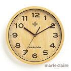 【送料無料】マリ・クレール壁掛け時計(ナチュラル)(代引き不可商品)