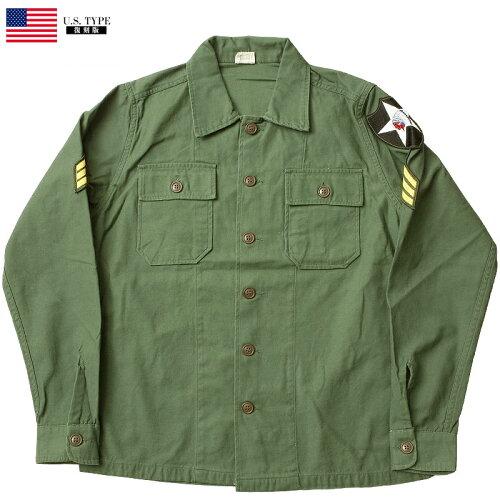 米軍タイプ OG-107 ファティーグシャツ 長袖 ジョンレノンModel ミリタリーシャツ メンズ コットン...