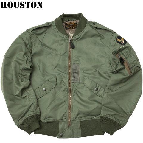sale HOUSTON #5L-2BX L-2B フライトジャケット メンズ セージ 36-44