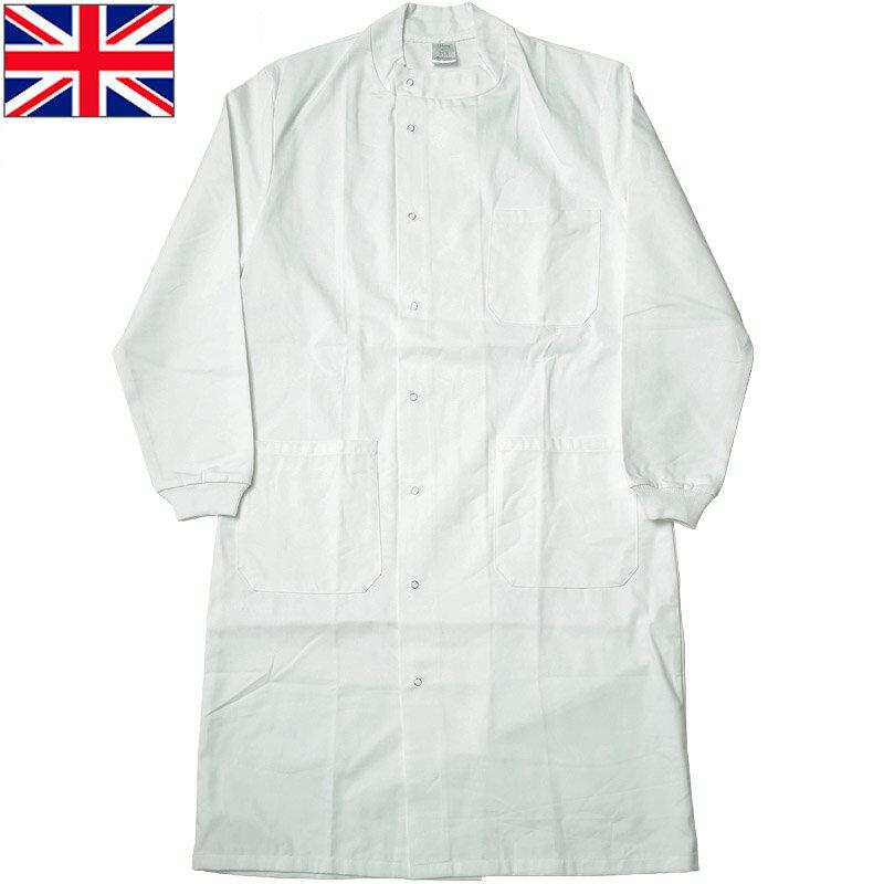 sale イギリス軍 メディカルコート スナップボタン ホワイト デッドストック JC119NN