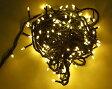 【安全設計】200球LED直線ライト ダイヤ型/緑線/シャンパンゴールド