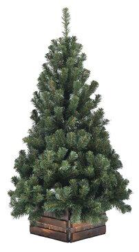 120cm幅広DX濃緑 品質保証高級ツリー木枠付【クリスマスツリー】