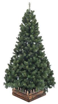 210cm幅広DX濃緑 品質保証高級クリスマスツリー木枠付【送料無料】