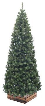 240cmスリム濃緑 品質保証高級ツリー木枠付【クリスマスツリー スリム】