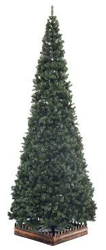 420cmクリスマスツリースリム濃緑 品質保証高級ツリー木枠サービス