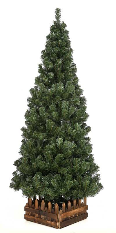 210cmスリム 濃緑 品質保証高級ツリー木枠付【クリスマスツリー スリム】【予約販売中】