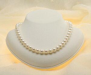 【真珠の本場伊勢志摩よりお届け】ほのかな優しいピンクグリーン♪8.5-9.0mmあこや本真珠パールネックレス【nc0456】