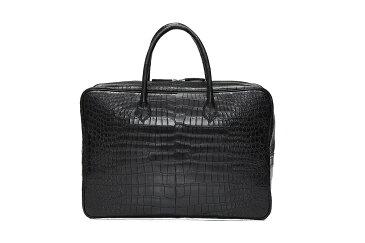 クロコダイル ブリーフケース ポロサス 山本製鞄 バッグ メンズ 日本製 本革 ブラック
