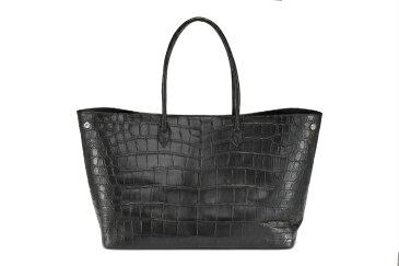 クロコダイル バッグ ビッグトート 山本製鞄 メンズ 日本製 本革 ブラック
