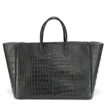 クロコダイル トートバッグ ポロサス 山本製鞄 メンズ 日本製 本革 ブラック