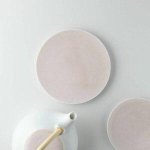 深山(miyama.) casane te-かさね茶器- 菓子皿 桜柄・桃釉