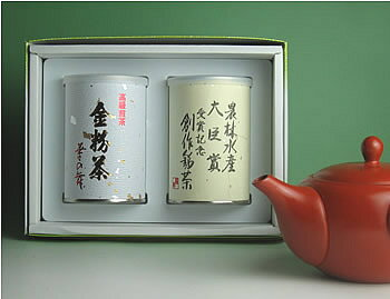 【送料無料】金粉茶&煎茶御中元ギフトの商品画像
