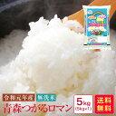 米 5kg 送料無料 無洗米 令和元年産 青森つがるロマン5...