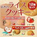 尾西のライスクッキー 12箱 ココナッツ味 いちご味 5年保存