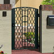 門扉 片開き 門柱タイプ 鋳物 キャスモア6型 0612 アイアン 三協立山