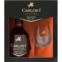 【5,000円以上送料無料】カルロス1世 700ml グラス1個付 40度