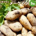 【GIFT】 じゃがいも メークイン L/2L混 3kg 北海道 ジャガイモ 送料無料 ギフト 贈り物 贈答 プレゼン...