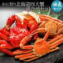 ★かに祭り北海道四大蟹 かに セット 盛合せセット 毛ガニ ...