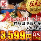 【送料無料】平成30年産 福島県中通り産 天のつぶ 白米:10kg(5kg×2個)