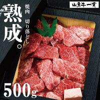 熟成飛騨牛山勇牛焼肉部位3種お任せ500g切落し不揃い焼肉A4/A5訳あり不ぞろい和牛牛肉冷蔵熟成肉
