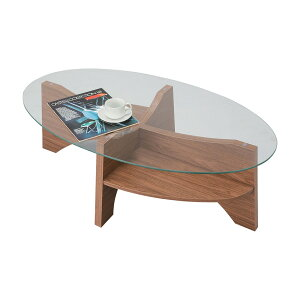 「オーバルテーブル」ウォールナット・ナチュラルコーヒーテーブルローテーブル【送料無料】