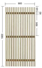 【送料無料!】タカショー e-ウッドフェンス 「e-ウッドパネル12型(ルーバー)」 塗装済み(...