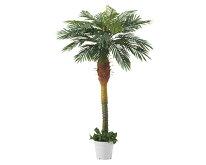 人工観葉植物「デラックスパームツリーヤシの木立ち木(H180cm)1台」人工樹木