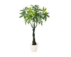 人工観葉植物パキラ(H110cm)1台人工樹木、イベント・販促品・学校行事・店舗装飾品・お店のイメージアップ、開店準備品、装備品、プレゼントに最適です