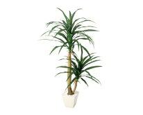 人工観葉植物コンシナ(H120cm)1台、人工樹木。おしゃれでかわいいデザインの人工観葉植物。装飾で美しく華やかに。リアルな素材感が本物らしさを演出