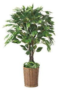天然幹を使用した存在感のある人工樹木を、お手頃価格でご提供「人工観葉植物ベンジャミン立ち木(H110cm)1台人工樹木」おしゃれでかわいいデザイン