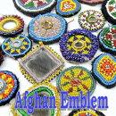 【メール便可】【直径約5〜8cm】アフガニスタン装飾アフガンビーズワッペンいろいろ02